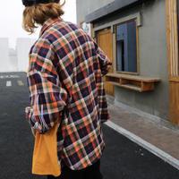 【COOL】チェックデザインミックスシャツ 2カラー