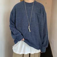 【TREND】ニット風シンプルトレーナー【PR00753】