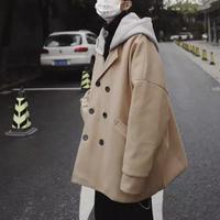 【COOL】フード付きウールデザインジャケット 2カラー