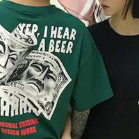 [売り切れ間近]A BEERデザインTシャツ 3カラー