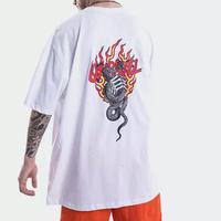 [売り切れ間近]ハートスネークデザインビックTシャツ 2カラー