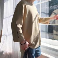 [再入荷]Parisデザイン7部丈Tシャツ 4カラー