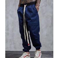 [大人気]ロング紐デザインジョガーパンツ 3カラー