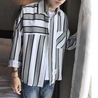 ストライプオーバーサイズシャツ【B00002】