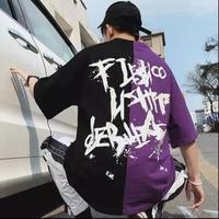 【HOT】FデザインバイカラーTシャツ 2カラー