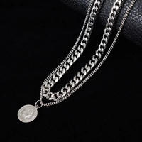 【HOT】チェーンメダルデザインネックレス【NO00845】