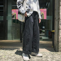 【2018AW】ワイドデニム風パンツ 3カラー