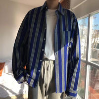 【大人気】ビックサイズブルーシャツ