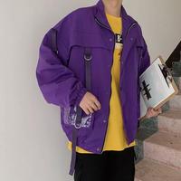 ベルト付きデザインジャケット【LA00434】