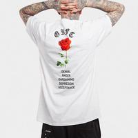 【STREET】ローズデザインTシャツ 2カラー