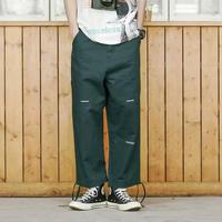 【売れ筋】ストリート風紐付きカーゴデニムパンツ 2カラー