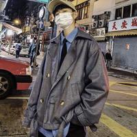 【HOT】チェックデザインベルト付きジャケット 3カラー