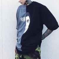 【COOL】ダークカラーバイカラーデザインTシャツ