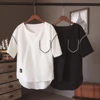 【GOOD】コットン風デザインTシャツ 2カラー