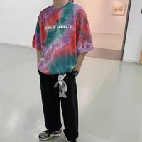 【STREET】カラフルオーバサイズTシャツ 2カラー