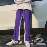 【DOPE】ホワイトラインデザインワイドパンツ 3カラー