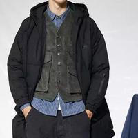 【大人気】ロングデザインフードダウンジャケット 2カラー