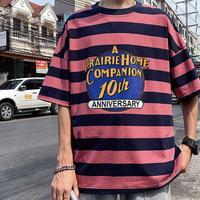 カラーボーダー10ThデザインTシャツ【LA00219】