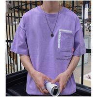 【大人気】ダブルポケットデザインTシャツ 2カラー