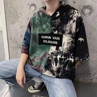 バイカラーフードTシャツ【PR00169】