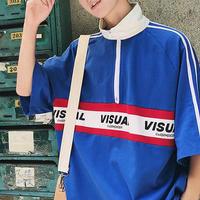 【数量限定】VISUALデザインファスナーTシャツ 2カラー