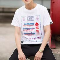 【大人気】カラフルワードプリントTシャツ 3カラー