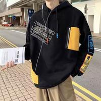 【売れ筋】パッチワークポケットデザインフーディー【PR00813】