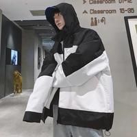 【オーバーサイズ】ホワイトバイカラービックサイズジャケット【EF00866】