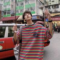 【STREET】VSカラフルボーダーTシャツ