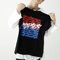 [HOT]MommデザインバイカラーTシャツ