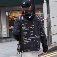 【トレンド】Love SWAGデザインデニムジャケット