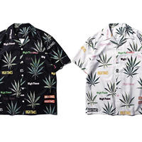 【DOPE】WEEDデザイン柄シャツ 2カラー
