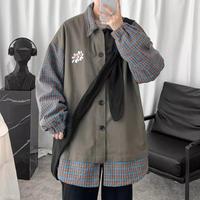 【売れ筋】フラワーレイヤーデザインシャツ【WB00998】