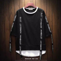 【GOOD】ロング紐付きデザインTシャツ 2カラー