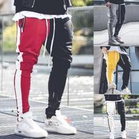 【売れ筋】バイカラーデザインストリートラフパンツ 4カラー