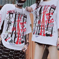 [COOL]ストリートペイントデザインTシャツ