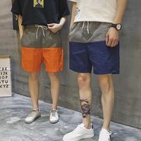 [売り切れ間近]バイカラーデザインハーフパンツ 6カラー