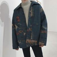 【TREND】レターデザインジャケット 2カラー