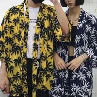 [売れ筋]特殊パターンパルムシャツ 2カラー