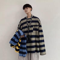 ボーダーロングTシャツ【LA00211】