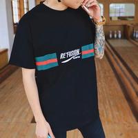 [STREET]刺繍RefashionデザインTシャツ 2カラー