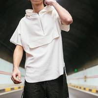 【DOPE】ビックサイズファスナーフードTシャツ