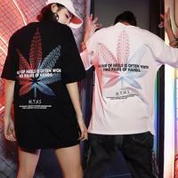 【COOL】カラフルリーフデザインTシャツ 2カラー