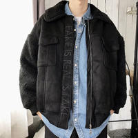 【DOPE】FAKEデザインウールジャケット 2カラー