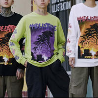 【大人気】モンスターデザインロングTシャツ 3カラー