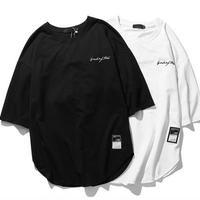 [HOT]バック紐付きデザインビックサイズTEE 2カラー