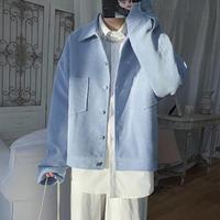 【売れ筋】シンプルコーデュロイ風ジャケット【RW01067】