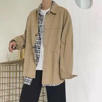 【2018AW】ビックサイズシャツジャケット 2カラー