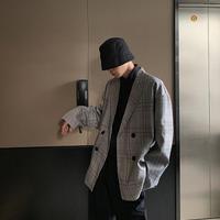 チェックデザインジャケット【WB00314】
