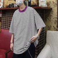 カラーネックデザインTシャツ【LA00013】